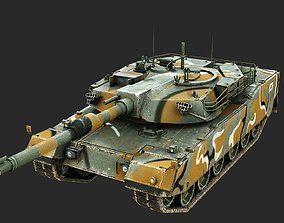 South Korea K2 Black Panther Main Battle Tank 3D asset 1