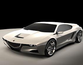 Generic sports car 01 3D