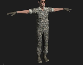 3D asset US Marine