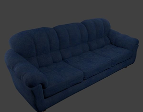 3D model low-poly Couch - Linen