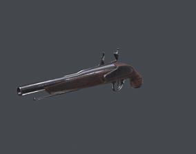 3D asset Flintlock gun low poly