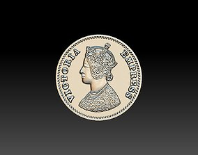 3D print model Victoria Empress Coin 25mm