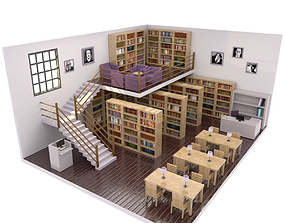 low Library 3D model