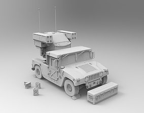 3D printable model AN-TWQ-1 Avenger - HMMWV M1097A2