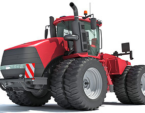 3D model Wheeled Articulated Tractor