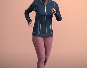 Nadin 20001-07 - Animated Jogging Girl 3D asset