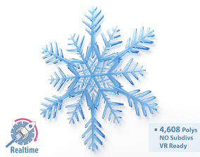 Snowflake Optimized 3D model