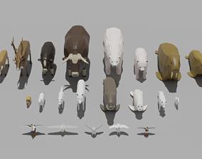 3D asset Arctic Animal Pack