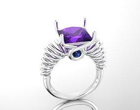 Spiral Cocktail Ring 3D print model