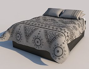 3D model LowPoly UV Mapped Bed