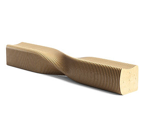 abstract parametric bench 02 3D
