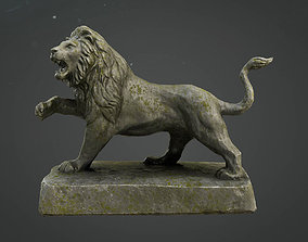 Lion Statue Game Model low-poly animal
