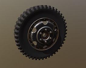 large-truck 3D model Wheel
