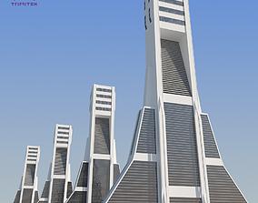 Futuristic Sci-Fi Skyscraper 02 3D asset