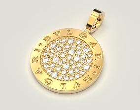 Bvlgari pendant necklace 3D print model