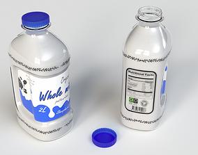 3D model Milk bottle 2L 2nd concept