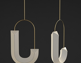 Hook Loop Pendant Chandelier 3D model