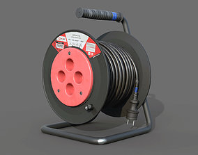 Open Cable Reel - Extension Cord 3D asset