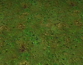 ground grass tile 44 3D