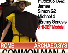 3D model Roman Common Man A Props Poser Daz