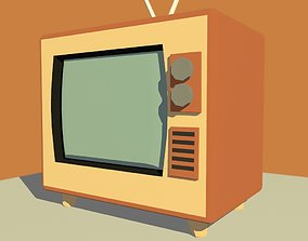 old TV toony low poly style 3D