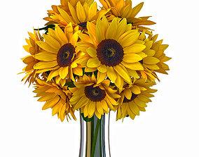 Sunflower bouquet 3D model