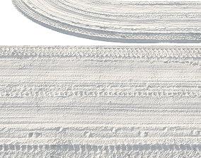 Winter single-lane road 3D