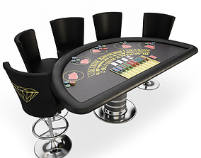 Blackjack Table Casino 3D model