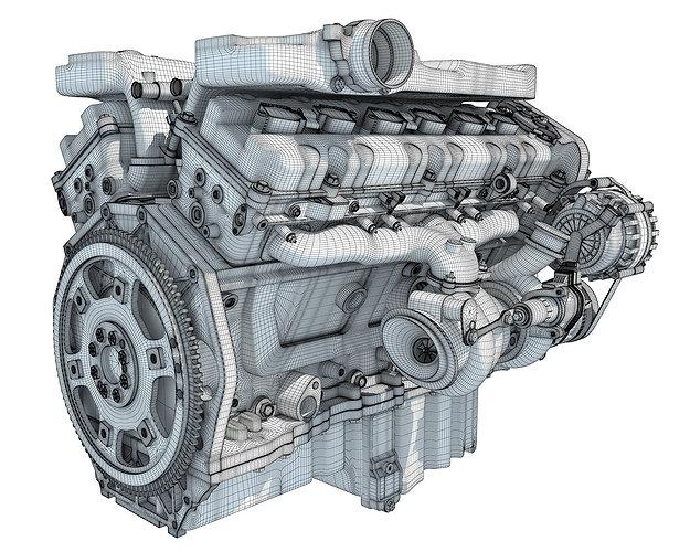 how-v12-engine-works-animation-3d-model-