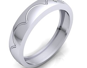 3D print model Classic band Ring 208