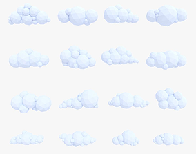 3D asset LowPoly Clouds Pack