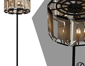 3D lampa harlow crystal round floor amber