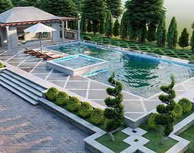underground swimming pool 3d model lumion model