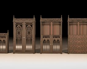 Gothic furniture set 3D model