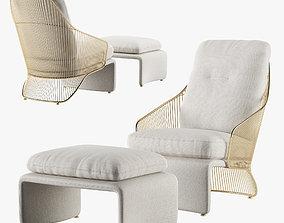 3D Minotti Colette armchair