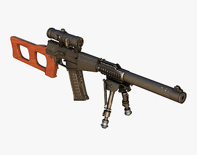 Sniper Rifle VSS Vintorez 3D model