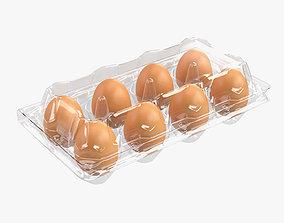 Egg plastic package 8 eggs 3D