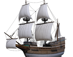 Mayflower Ship 3D
