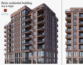 3D Brick residential building