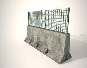 Concrete Barricade 3D model