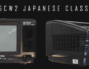Japanese Classic TV PBR and Gameready 3D model