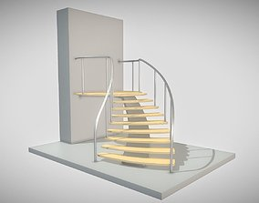 Spiral Staircase High-Poly Version 1 3D