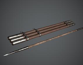 Javelin Arabic Medieval 3D asset