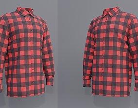 Male Button-up shirt 3D