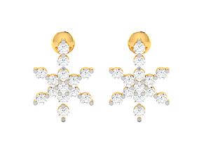 Women earrings 3dm render detail jewelry silver
