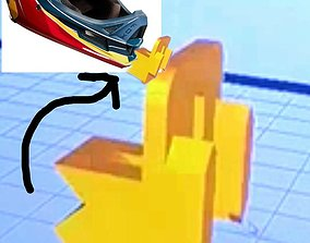 GOPRO FRONT MOUNT FOX RAMPAGE 2018 3D printable model