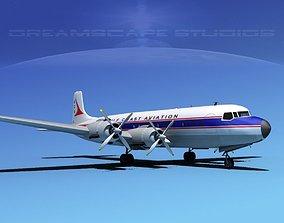 3D Douglas DC-7C Gulf Coast