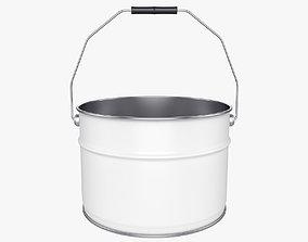Bucket 3D model chrome