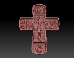 3D printable model cross jewelry