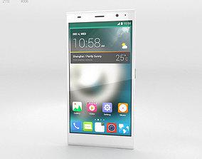 ZTE Grand Memo II LTE White 3D model
